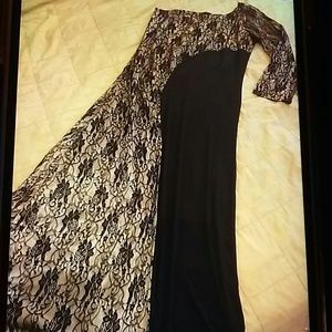 Dresses & Skirts - Gorgeous one sleeved black and gold gown
